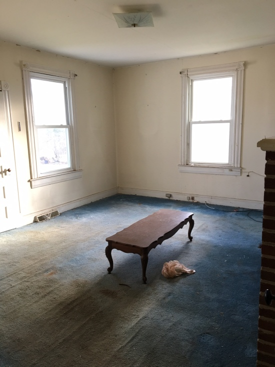 before living room